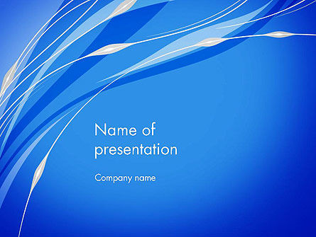 Stylized Plant PowerPoint Template, 13116, Abstract/Textures — PoweredTemplate.com