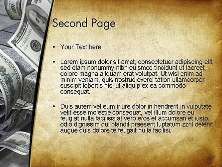 Throwing Money Down Drain PowerPoint Template Slide 2