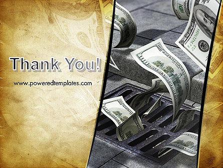 Throwing Money Down Drain PowerPoint Template Slide 20