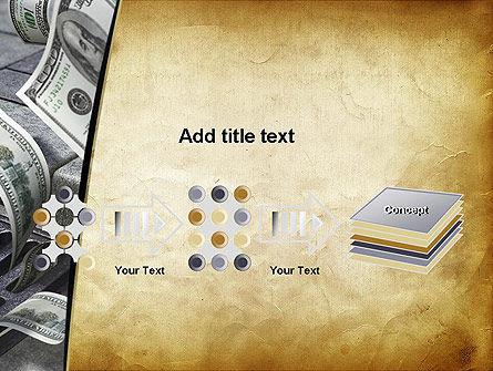 Throwing Money Down Drain PowerPoint Template Slide 9