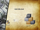 Throwing Money Down Drain PowerPoint Template#13