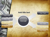 Throwing Money Down Drain PowerPoint Template#15