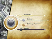 Throwing Money Down Drain PowerPoint Template#3