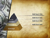 Throwing Money Down Drain PowerPoint Template#4