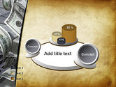 Throwing Money Down Drain PowerPoint Template#6