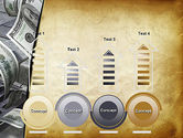 Throwing Money Down Drain PowerPoint Template#7