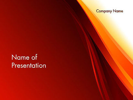 Stylized Abstract Flame PowerPoint Template, 13118, Abstract/Textures — PoweredTemplate.com