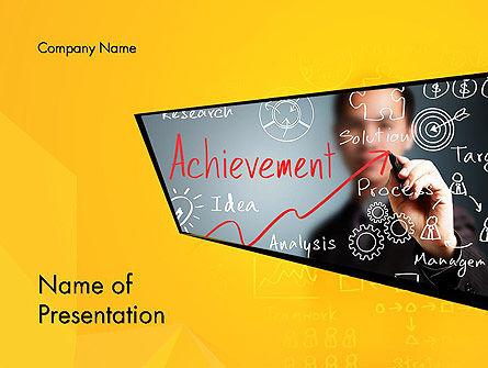 Business Concepts: Business Achievement PowerPoint Template #13120