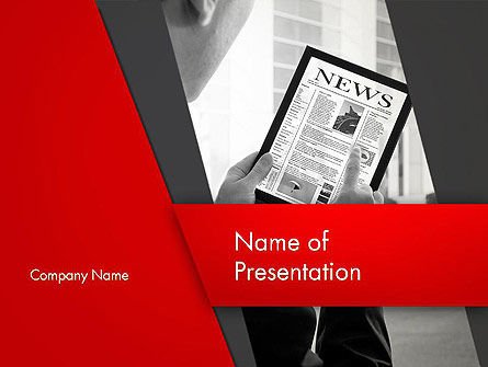 News on Tablet PowerPoint Template, 13121, Careers/Industry — PoweredTemplate.com