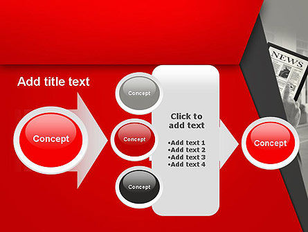 News on Tablet PowerPoint Template Slide 17