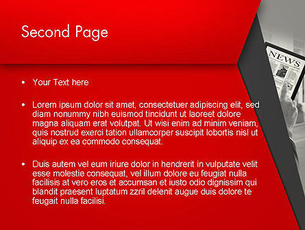 News on Tablet PowerPoint Template Slide 2