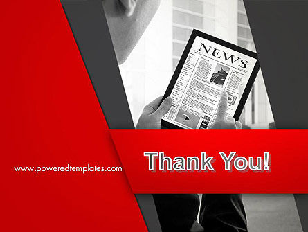 News on Tablet PowerPoint Template Slide 20