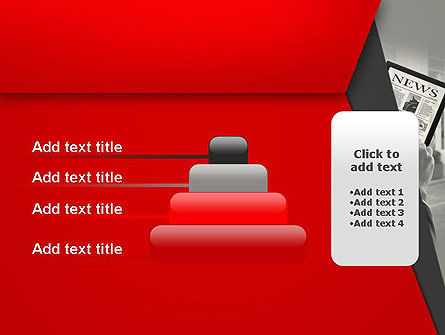News on Tablet PowerPoint Template Slide 8