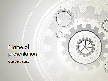 Technology and Science: Machine Data PowerPoint Template #13122