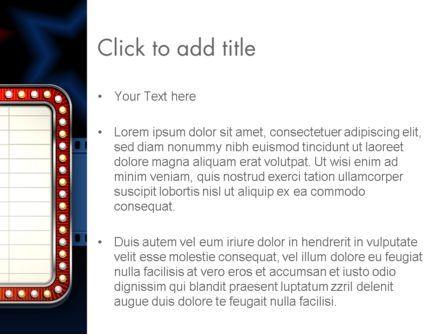 Star Neon Movie Sign PowerPoint Template, Slide 3, 13123, Art & Entertainment — PoweredTemplate.com