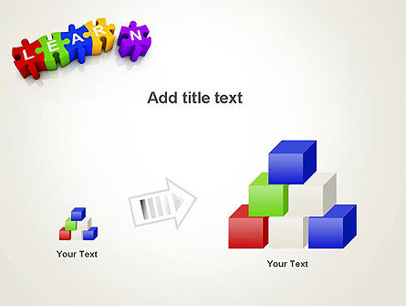 Learn Puzzle PowerPoint Template Slide 13