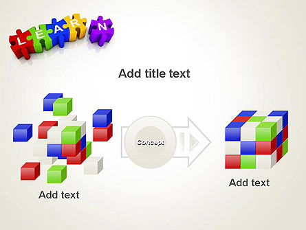 Learn Puzzle PowerPoint Template Slide 17
