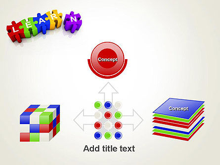 Learn Puzzle PowerPoint Template Slide 19