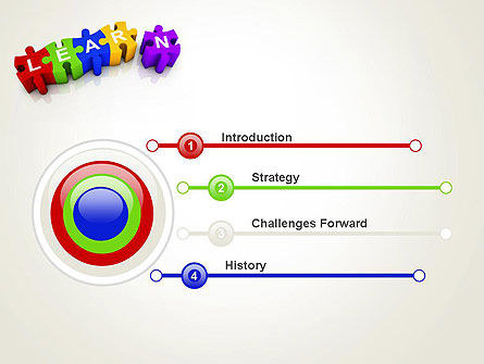 Learn Puzzle PowerPoint Template, Slide 3, 13124, Education & Training — PoweredTemplate.com
