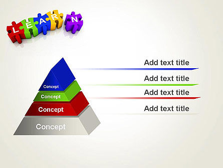 Learn Puzzle PowerPoint Template, Slide 4, 13124, Education & Training — PoweredTemplate.com