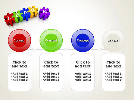 Learn Puzzle PowerPoint Template Slide 5