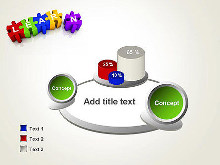 Learn Puzzle PowerPoint Template Slide 6