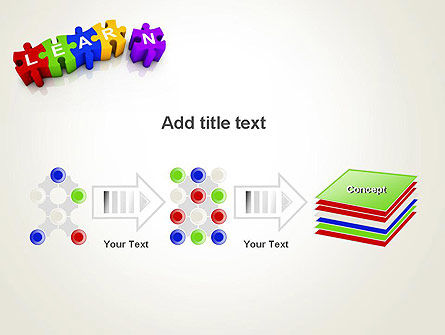 Learn Puzzle PowerPoint Template Slide 9