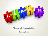 Education & Training: Learn Puzzle PowerPoint Template #13124