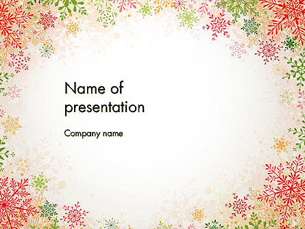 Colorful Snowflakes PowerPoint Template