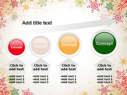 Colorful Snowflakes PowerPoint Template Slide 13