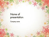 Holiday/Special Occasion: Colorful Snowflakes PowerPoint Template #13125