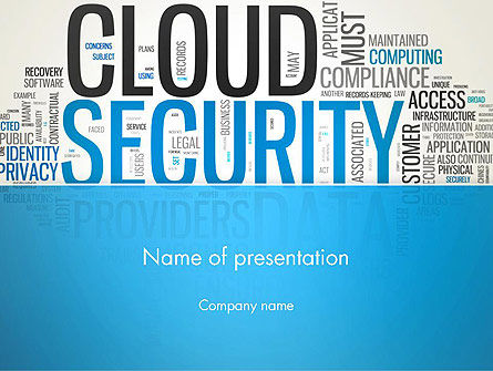 Cloud Security Word Cloud PowerPoint Template