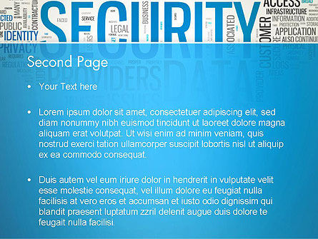 Cloud Security Word Cloud PowerPoint Template Slide 2