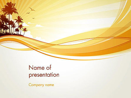 Nature & Environment: Summer Background PowerPoint Template #13128