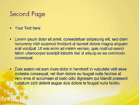 Summer Background PowerPoint Template, Slide 2, 13128, Nature & Environment — PoweredTemplate.com