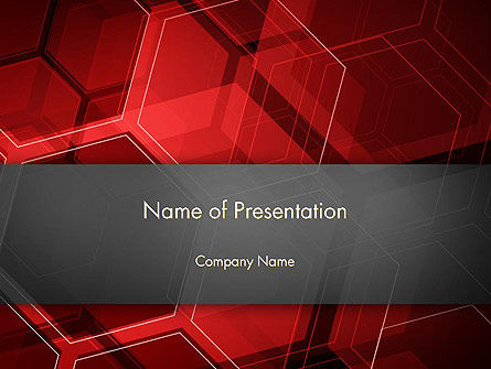 Abstract Red Hexagons PowerPoint Template