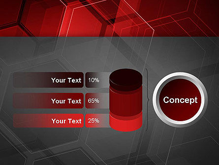 Abstract Red Hexagons PowerPoint Template Slide 11