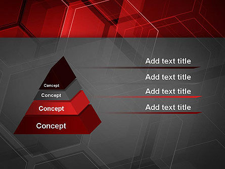 Abstract Red Hexagons PowerPoint Template Slide 12