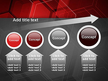 Abstract Red Hexagons PowerPoint Template Slide 13
