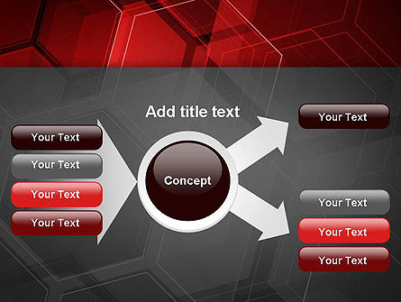 Abstract Red Hexagons PowerPoint Template Slide 14