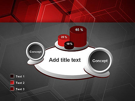 Abstract Red Hexagons PowerPoint Template Slide 16