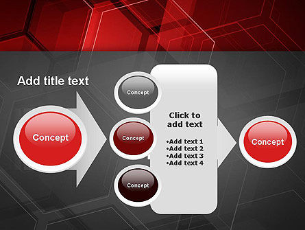 Abstract Red Hexagons PowerPoint Template Slide 17