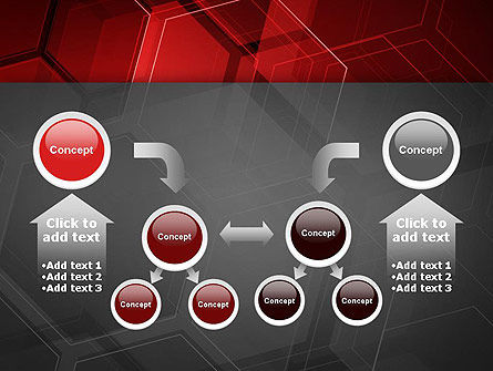 Abstract Red Hexagons PowerPoint Template Slide 19