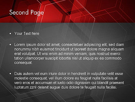 Abstract Red Hexagons PowerPoint Template, Slide 2, 13129, Abstract/Textures — PoweredTemplate.com