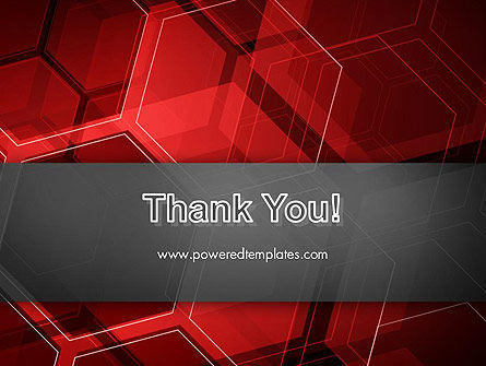 Abstract Red Hexagons PowerPoint Template Slide 20