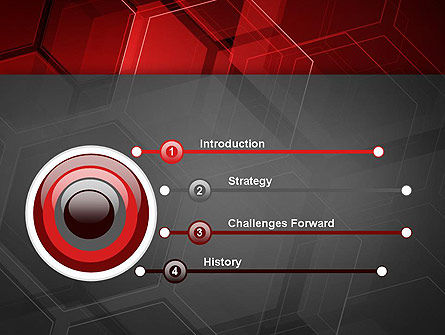 Abstract Red Hexagons PowerPoint Template Slide 3