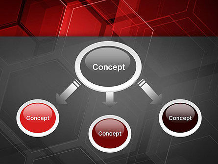 Abstract Red Hexagons PowerPoint Template, Slide 4, 13129, Abstract/Textures — PoweredTemplate.com