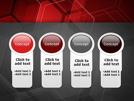 Abstract Red Hexagons PowerPoint Template Slide 5
