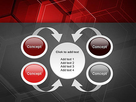 Abstract Red Hexagons PowerPoint Template Slide 6