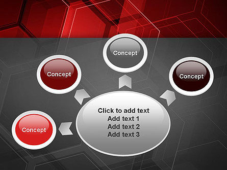 Abstract Red Hexagons PowerPoint Template Slide 7